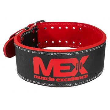 MEX Power Band | Red Leather Powerlifting Belt