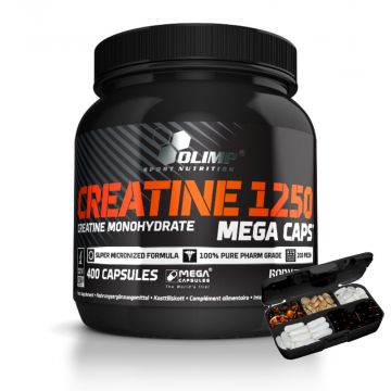 Olimp Creatine Monohydrate 400caps + pillbox