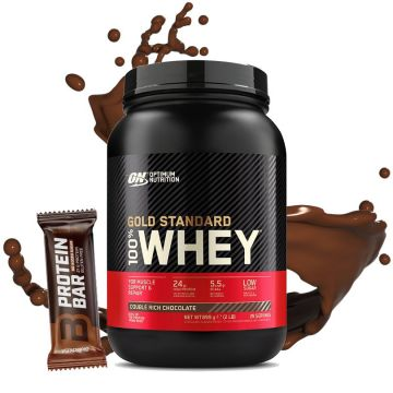 ON 100% Gold Standard Whey Protein 908G + Protein Bar