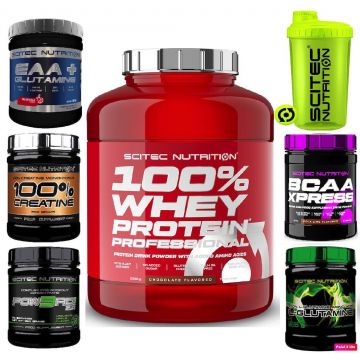 Scitec 100% Whey Professional 2350g + FREE SUPP 300G + Shaker