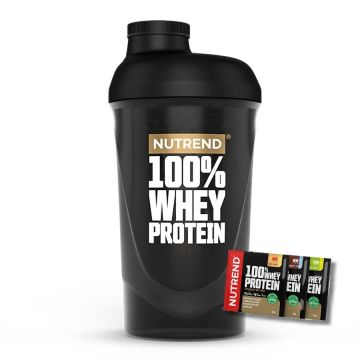 Nutrend Shaker 100% WHEY 600 ml + 3x Protein Sample