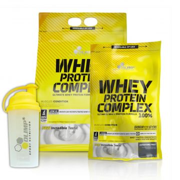 OLIMP WHEY PROTEIN COMPLEX 100% 2270G + 600G + SHAKER FREE