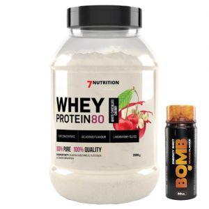 7Nutrition Whey Protein 80 2kg + 3x Bomb shot 80ml