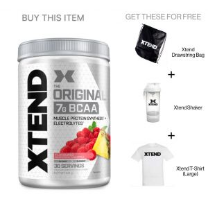 Xtend Bcaa bundle shaker + t shirt + bag