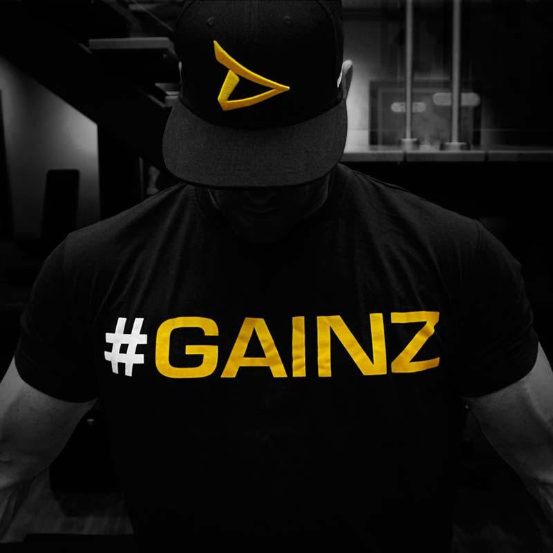 "/""#Gainz/"" T-Shirt Dedicated Nutrition"