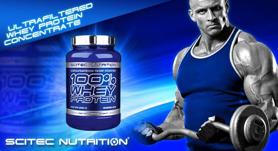 scitec 100% whey protein baner