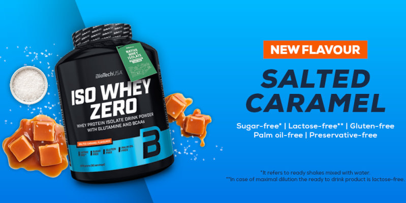 New flavour! Biotech Iso Whey Zero Salted Caramel