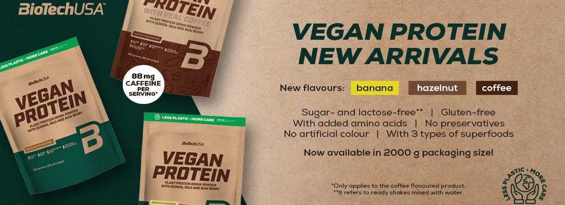 Biotech USA Vegan Protein New flavours