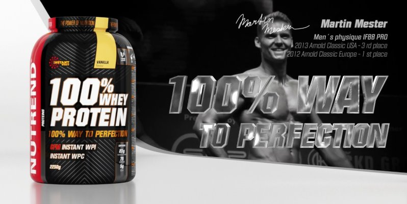 Nutrend 100% Whey Protein + 500g + Shaker Free