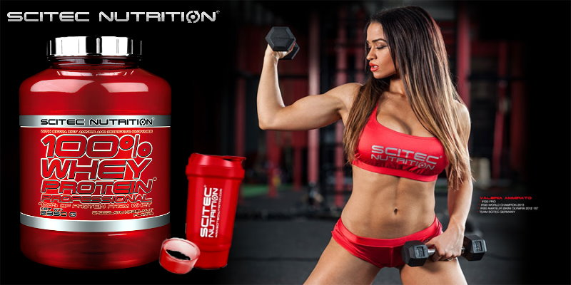 Scitec 100% Whey Protein Professional + Free Shaker