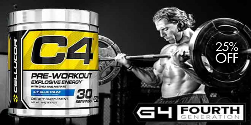 Cellucor C4 Pre-Workout 25% off