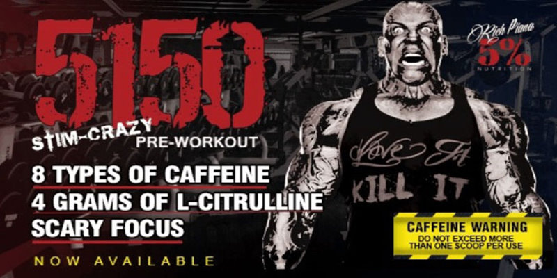 Rich Piana 5% Nutrtition 5150 PreWorkout