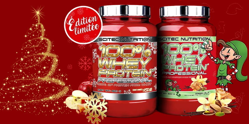 Scitec 100% Whey Professional Xmas limited edition